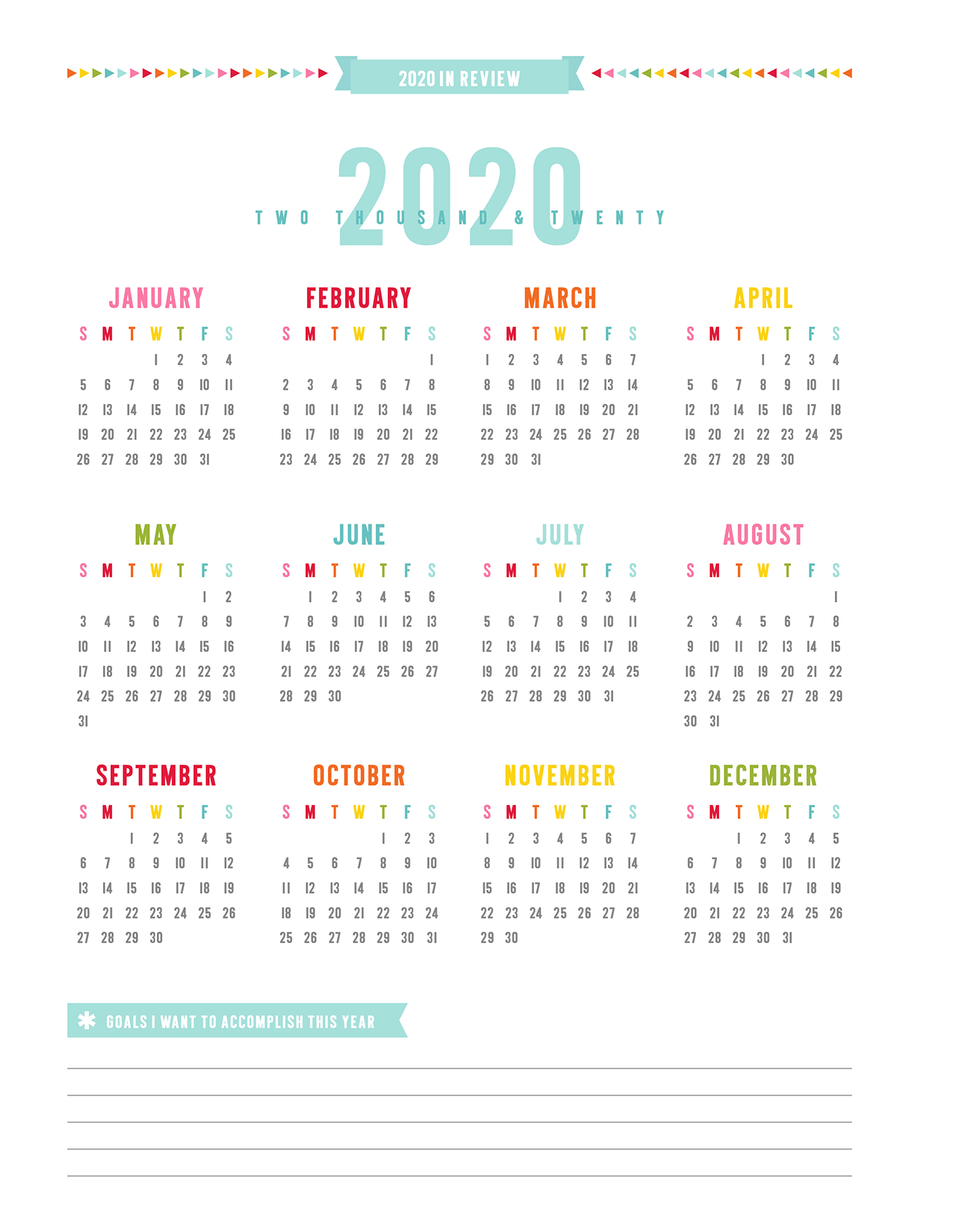 2020 Year In Review.2019 Everyday Planner Misstiina Com
