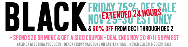 75% OFF BLACK FRIDAY!!