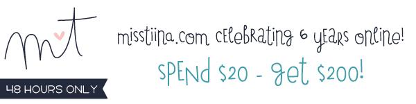 Spend $20 – Get $200!!! Celebrating my 6th year 'webiversary'