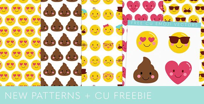 NEW CHEEKY EMOJI FACES PATTERNS + CU FREEBIE