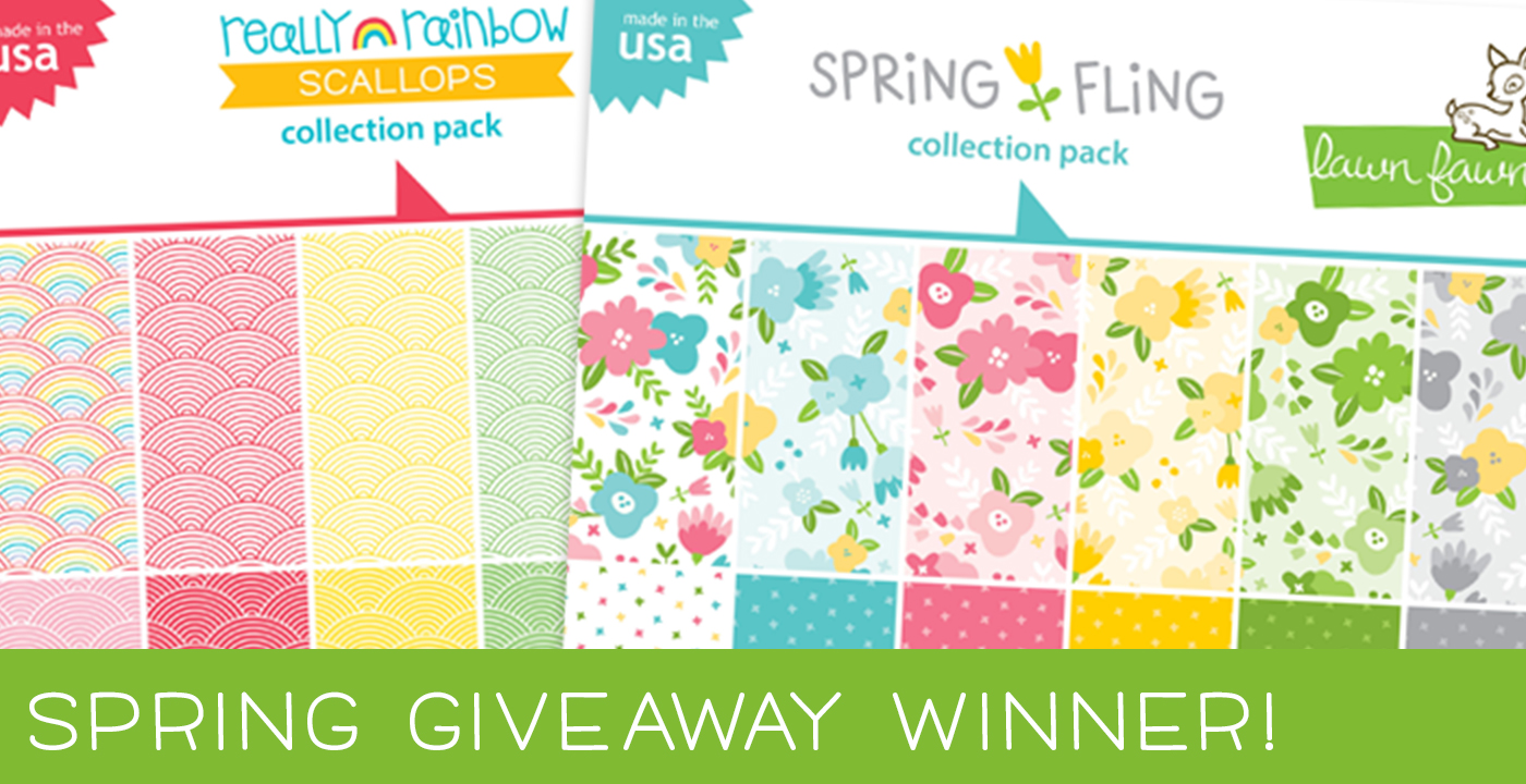 LAWN FAWN SPRING 2019 GIVEAWAY WINNER!