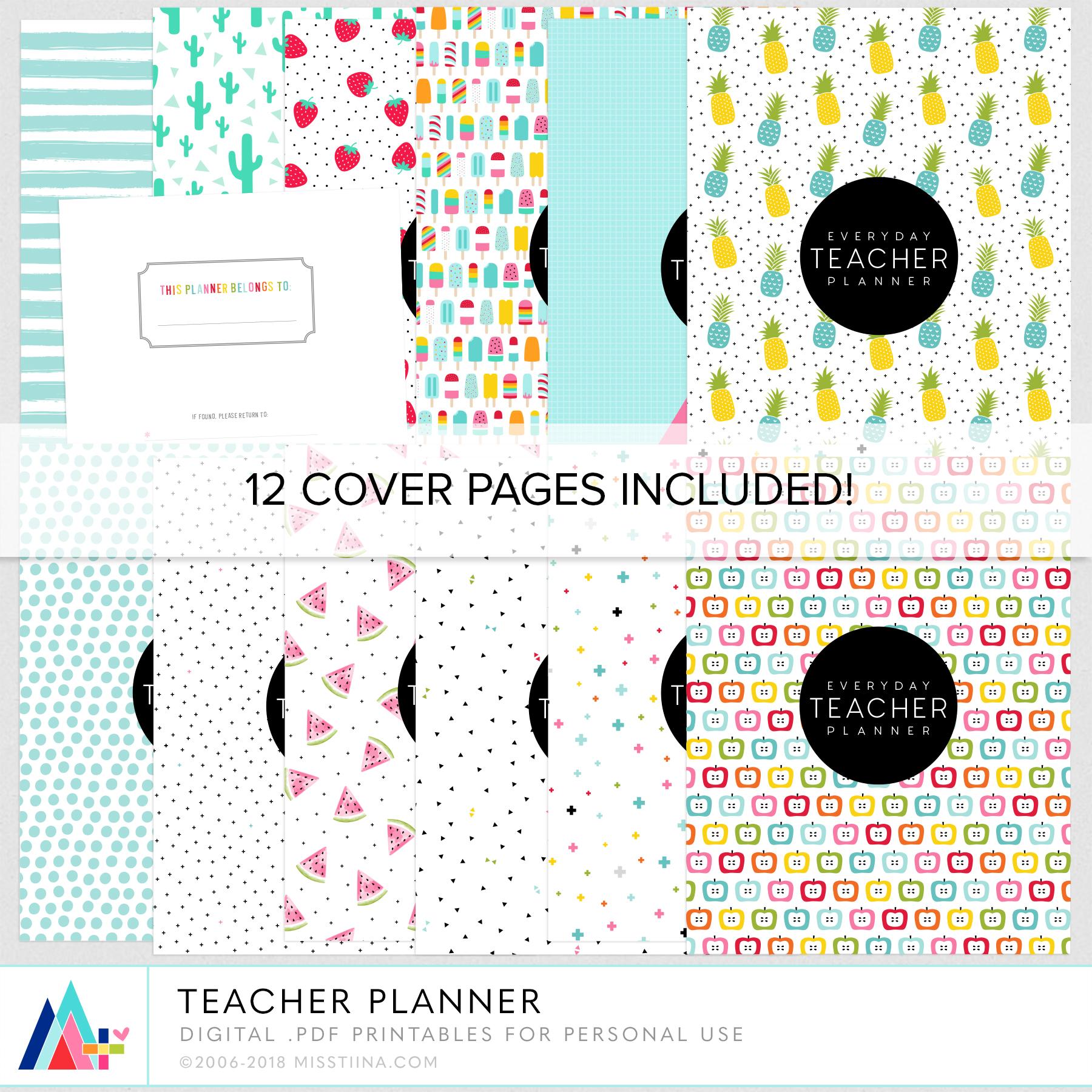 Teacher Planner 3 NEW Printable Freebies