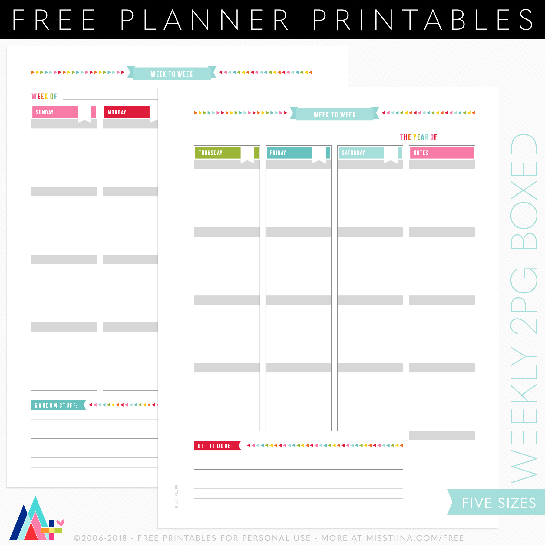 graphic about Printable Planner Inserts referred to as PLANNER PRINTABLES