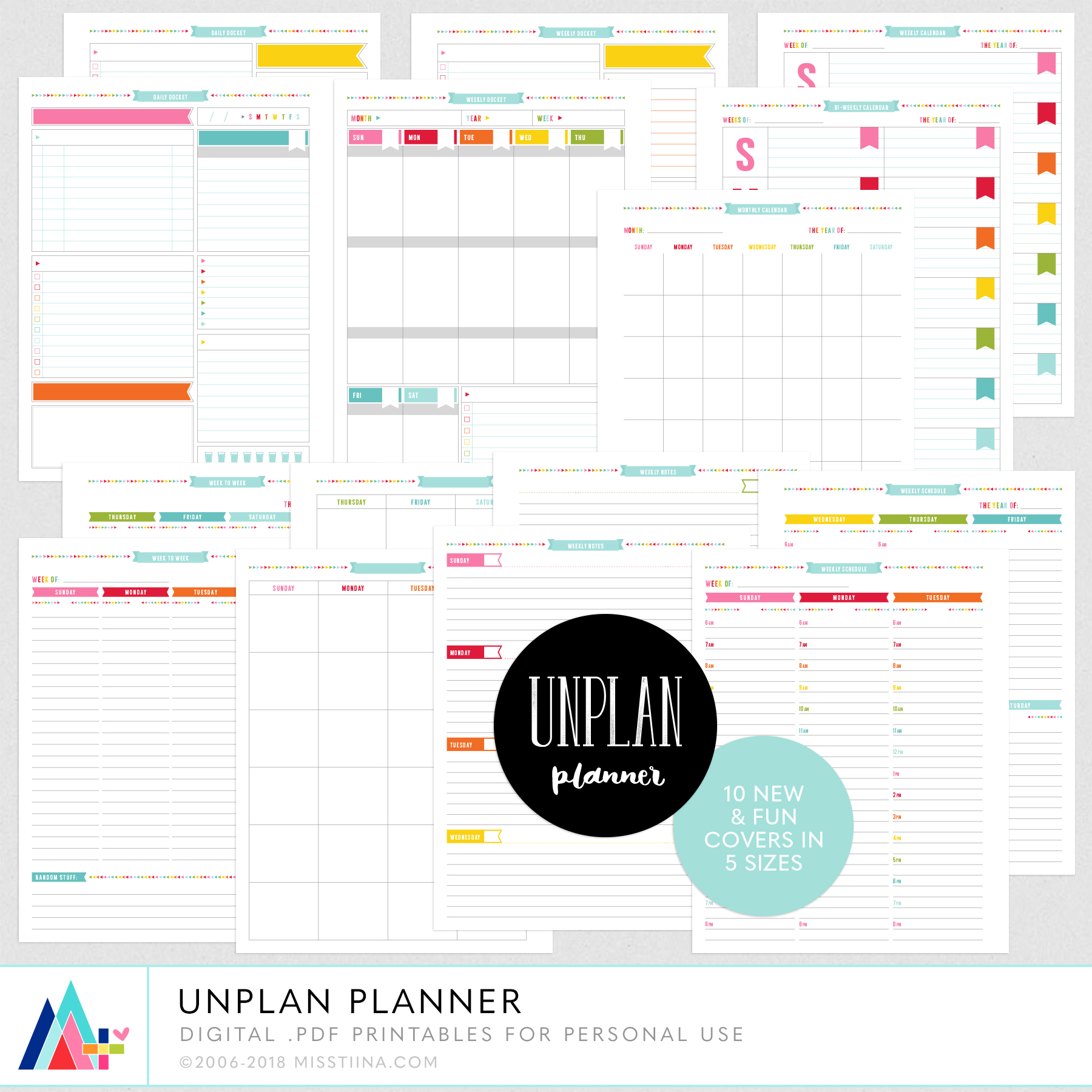UNPLAN PLANNER PAGES