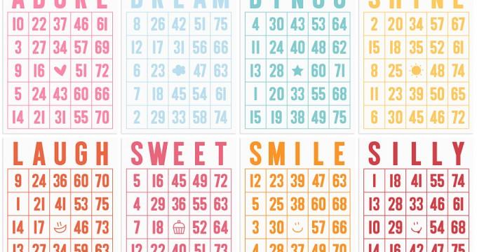 FREE Printables » Bingo Journal Cards