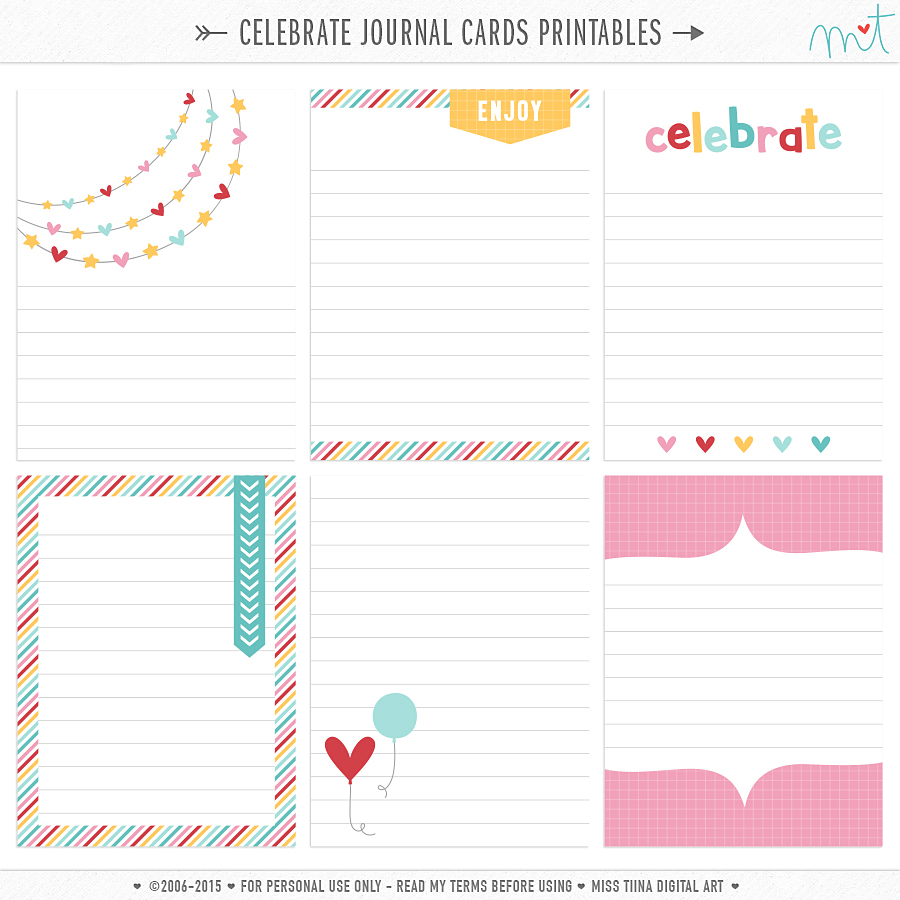 photo about Printable Journaling Cards named Magazine Playing cards