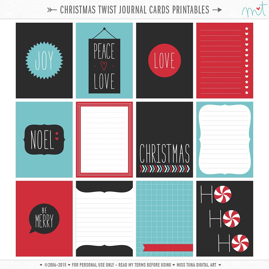graphic regarding Printable Journaling Cards titled Magazine Playing cards