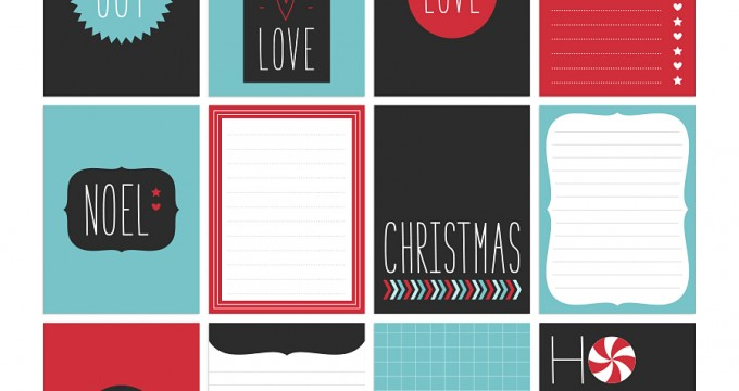 FREE Printables » Christmas Twist Journal Cards