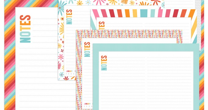 NEW Colorful Desk Calendar and a FREEBIE