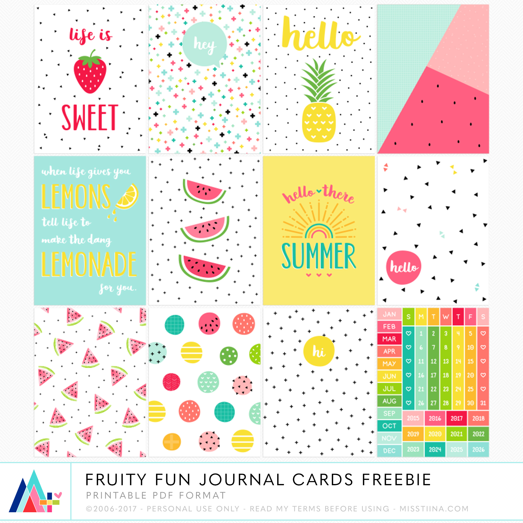 graphic about Free Printable Journaling Cards referred to as Magazine Playing cards