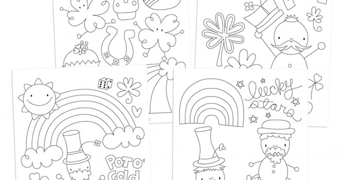 Free St. Patrick's Day Coloring Pages!