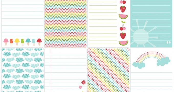 FREE Printables » Sweet Summer Journal Cards
