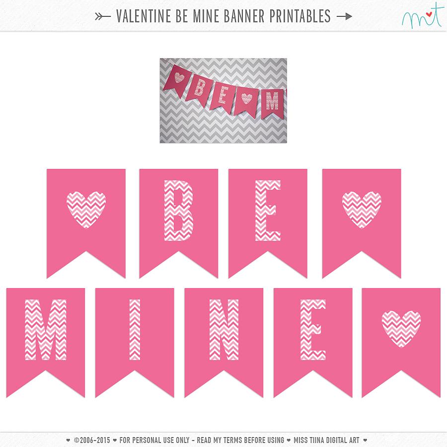 free printable valentine u0027s u0027be mine u0027 banner