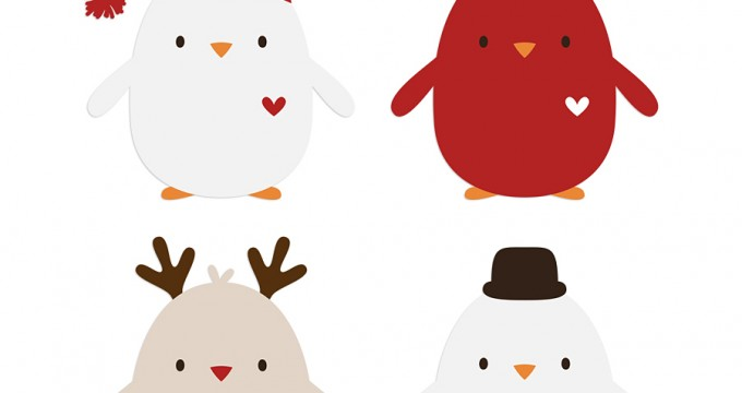 Merry Ho Ho Freebies!! Recipe Cards + Vector Birdies!