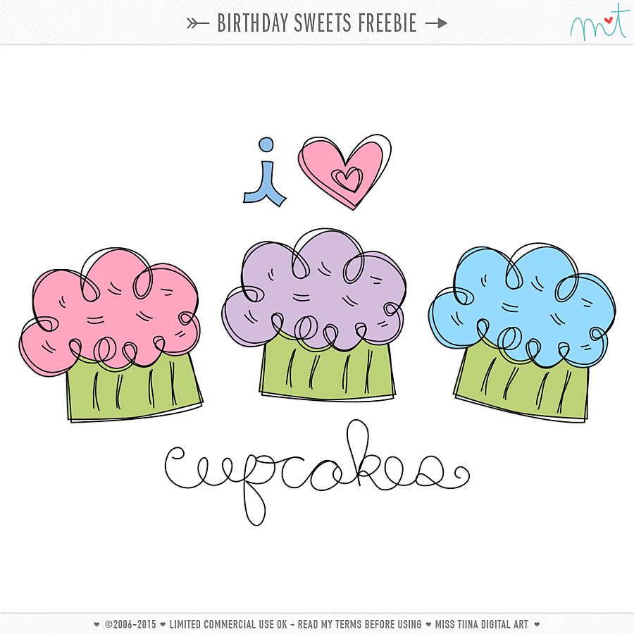 Vector Birthday Sweets {CU} Freebie