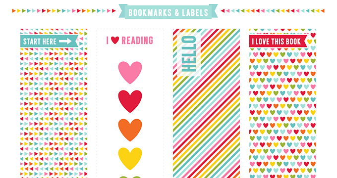 FREE Bookmarks + Labels Planner Printable