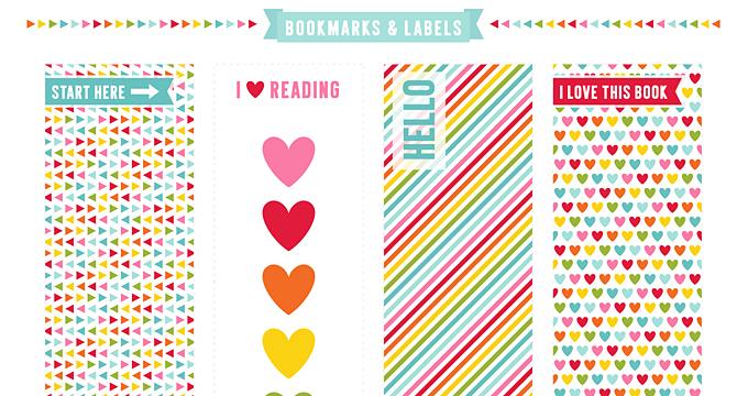 FREE Bookmarks + Labels Planner Printable