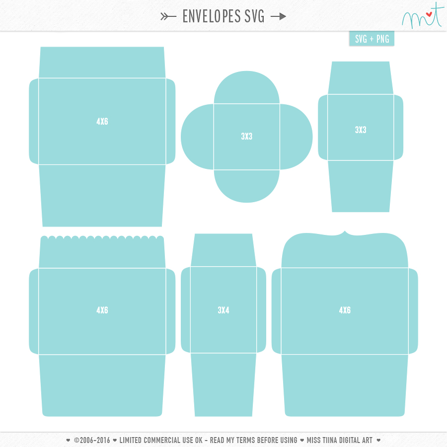 Envelope Templates and .SVG's!