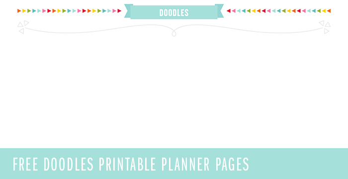 FREE Doodles Planner Page Printable