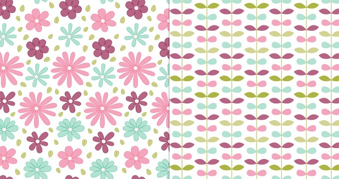 NEW Confectionery Doodled Blooms + CU Pattern Freebie