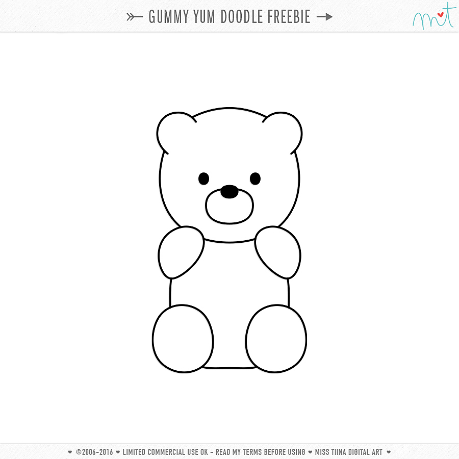 image relating to Gummy Bear Printable titled No cost CU Gummy Yum Vectors + Doodle