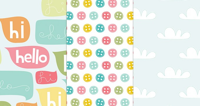 Hi Hello Patterns {CU} Freebie