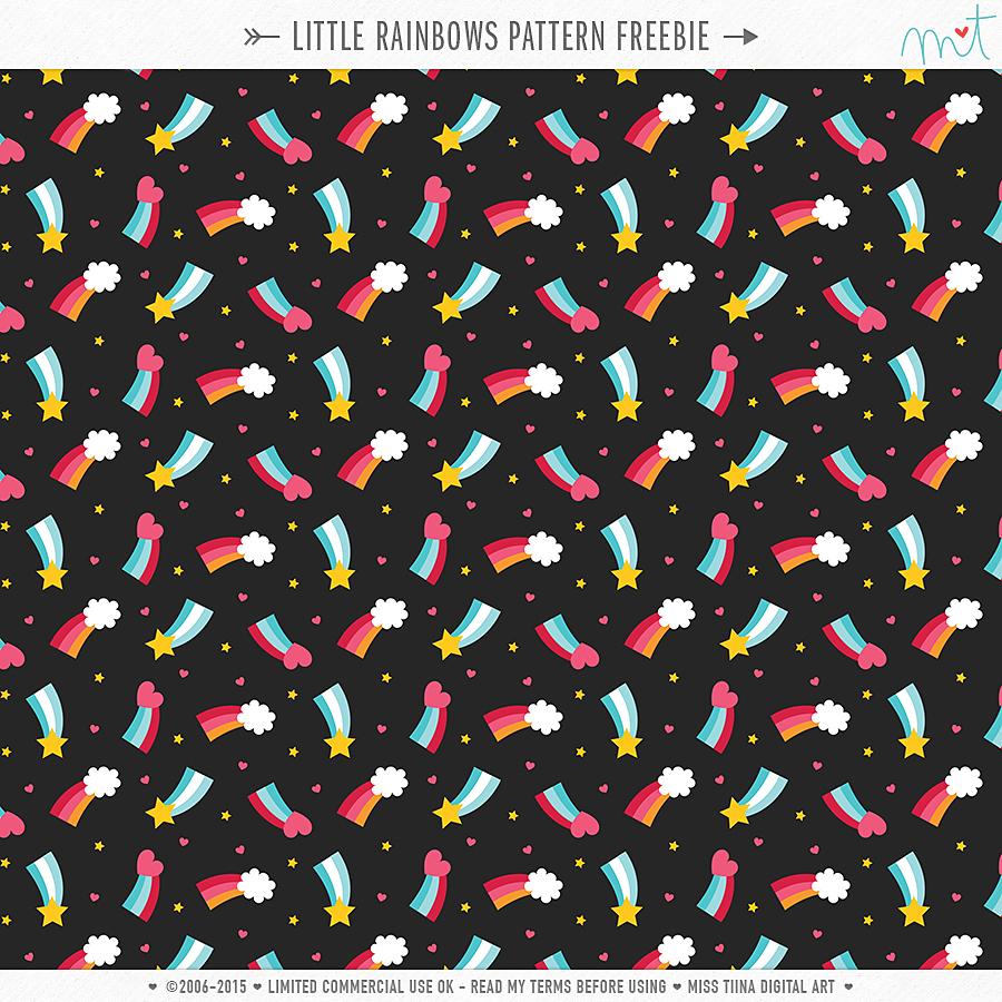Little Rainbows Pattern CU Freebie