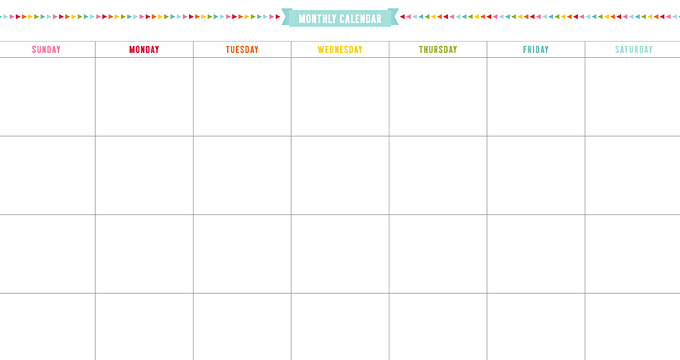 FREE Monthly Minimal Calendar Planner Page Printables
