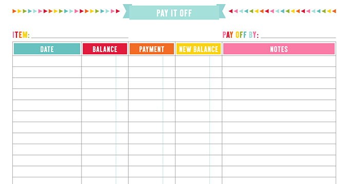 FREE Pay It Off + Save It Up Planner Page Printables