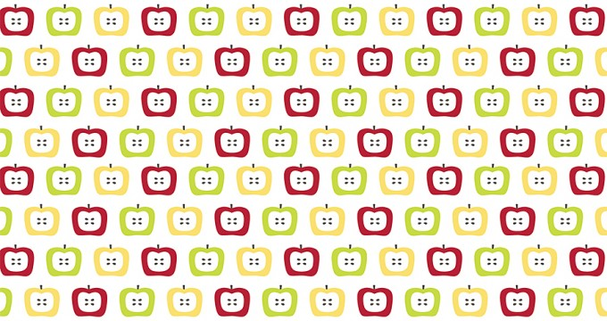 Spring Is In Apple Pattern {CU} Freebie