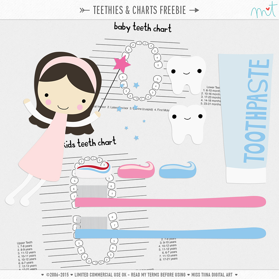 Vector Teethies & Charts {CU} Freebie
