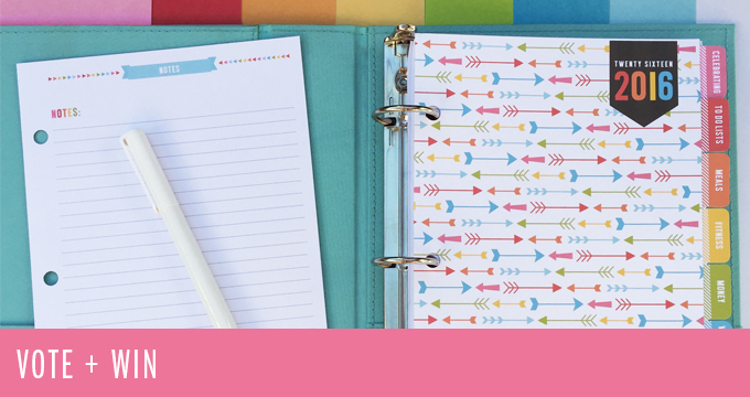 VOTE + WIN – Which planner page size do you prefer? {CLOSED}