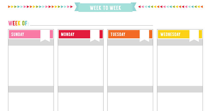 photo relating to Weekly Planner Page titled Cost-free UNPLAN Weekly 2PG Boxed Planner Webpage Printables