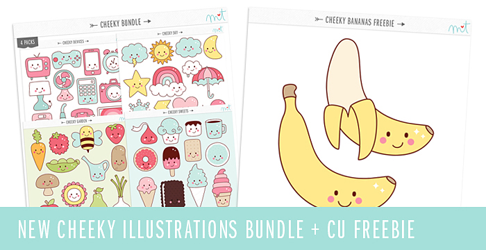 NEW Cheeky Illustrations Bundle + CU Freebie