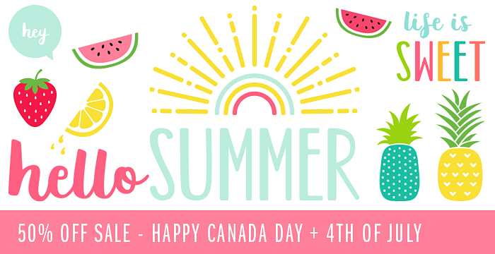 50% OFF SALE – HAPPY CANADA DAY + 4TH OF JULY