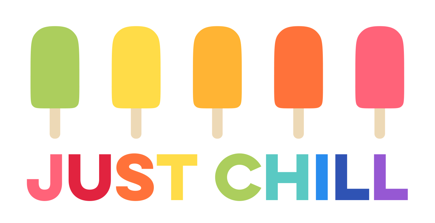 FREE JUST CHILL RAINBOW POPSICLES WALL ART PRINTABLE