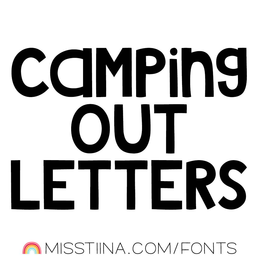 MTF Camping Out Letters