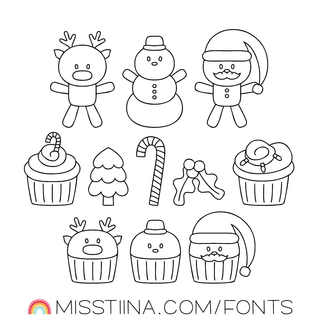 MTF Christmas Sweets Doodles
