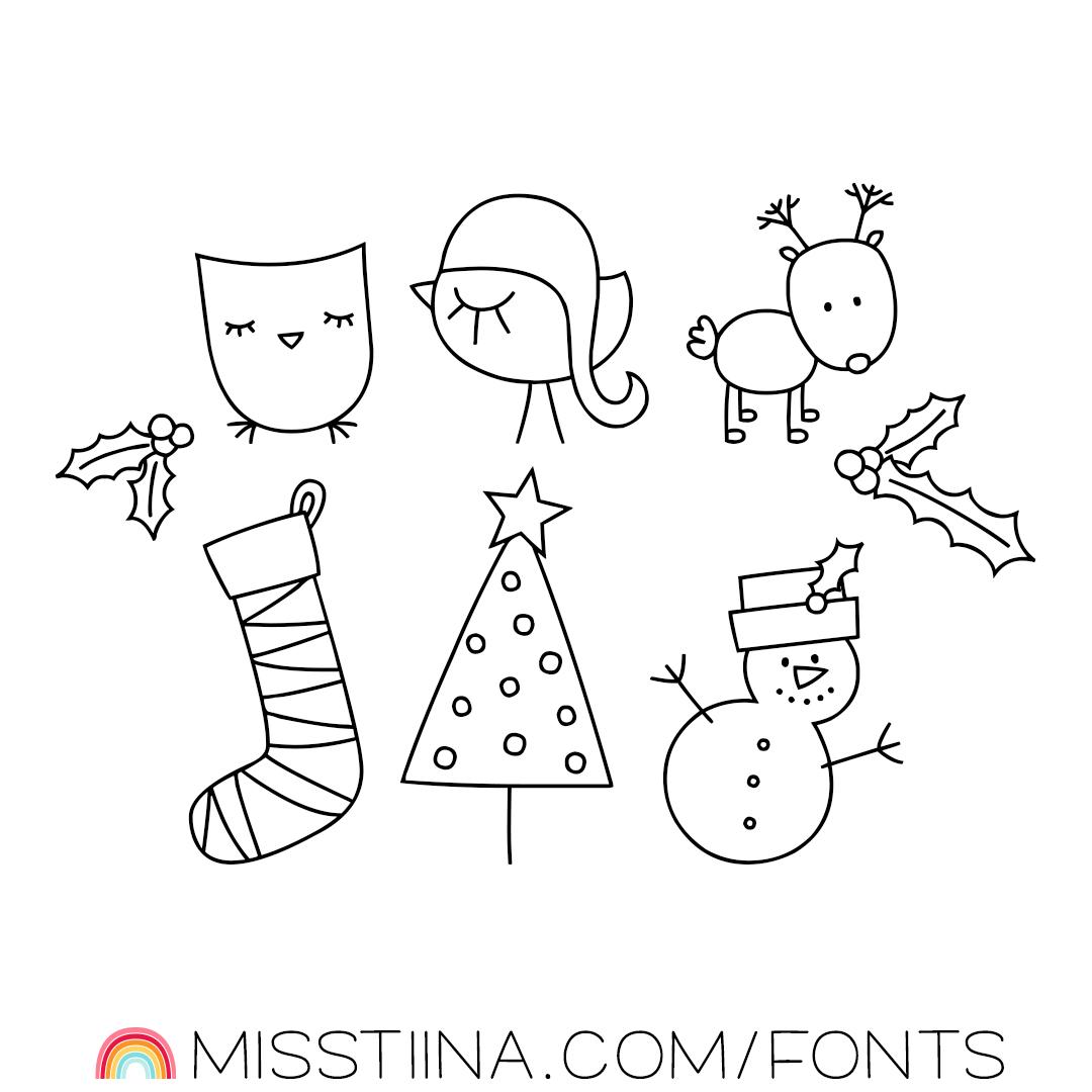MTF Christmas Wish Doodles