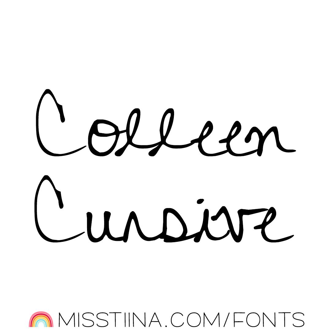 MTF Colleen Cursive