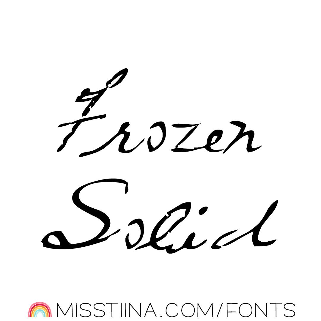 MTF Frozen Solid
