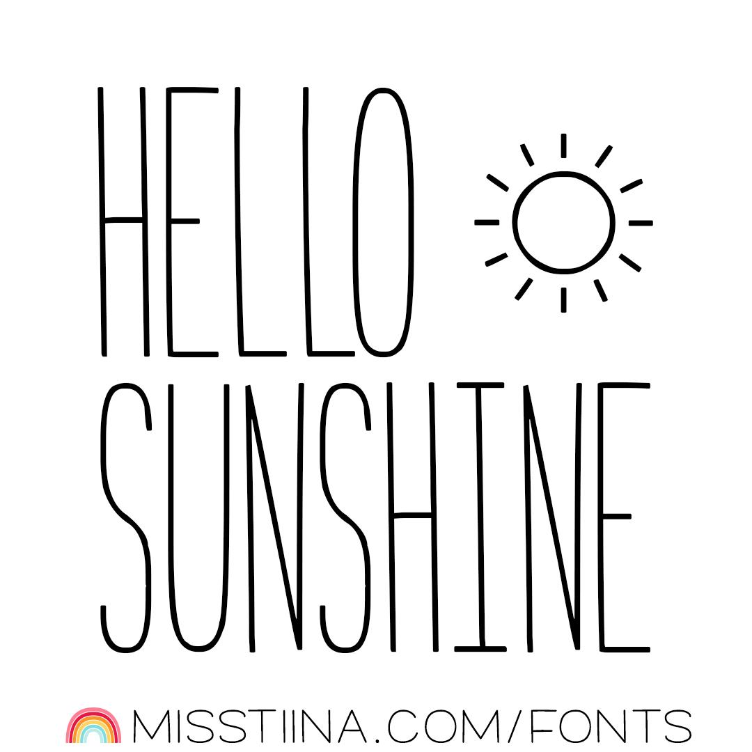 MTF Hello Sunshine