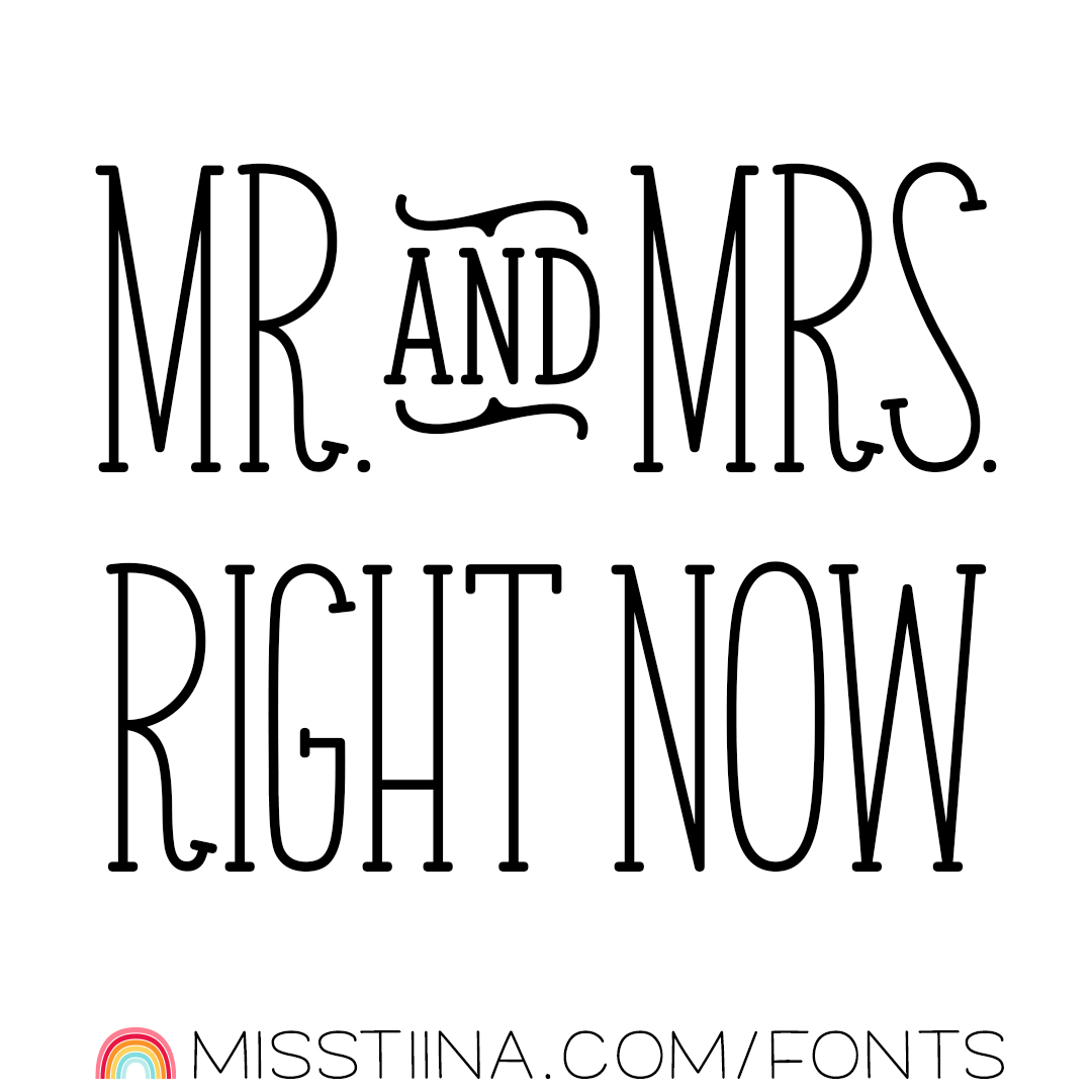 MTF Mr. & Mrs. Right Now