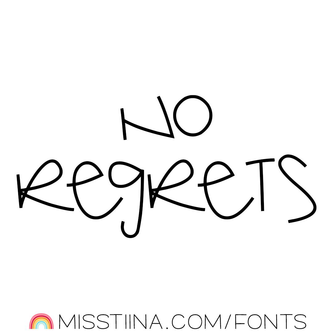 MTF No Regrets